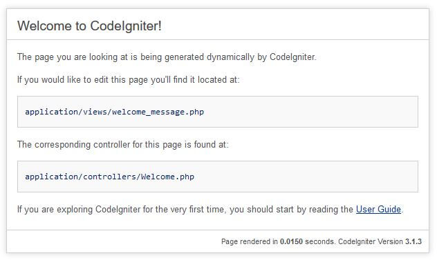 Tutorial CodeIgniter untuk pemula