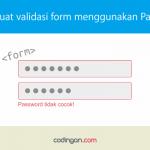 Membuat validasi form menggunakan Parsley.js