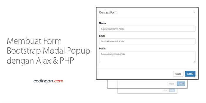 Membuat Form Bootstrap Modal Popup dengan Ajax & PHP