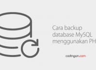 Cara backup database MySQL menggunakan PHP