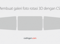 Membuat galeri foto rotasi 3D dengan CSS