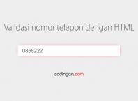 Validasi nomor telepon dengan HTML