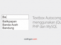 Textbox Autocomplete menggunakan jQuery, PHP dan MySQL